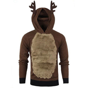 With Velvet Cold-proof Pullover Men's Hoodie