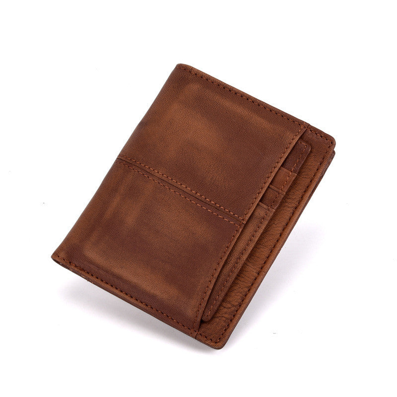 Anti-theft Retro Short Paragraph Men's Wallets