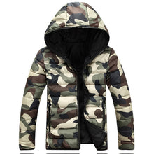 Slim Camouflage Mountaineering European Men's Down Coat