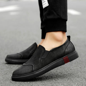 Frosted Surface Gradient Toe Area Men's Casual Shoes