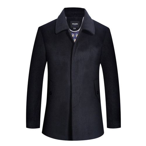 Short Removable Cashmere Men's Trench Coat