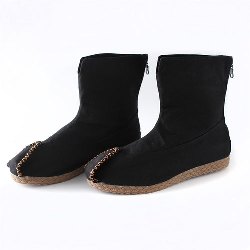 Leisure Head Plush Zipper Men's Boots