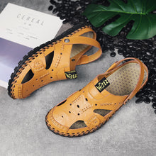 Fashion Genuine Leather Hollow Shoes