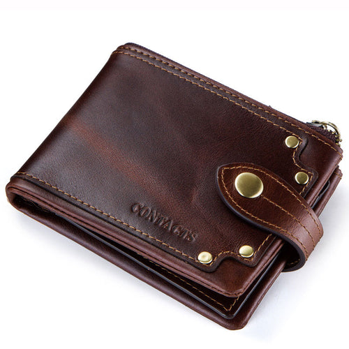 Short Paragraph Retro Buckle Men's Wallets