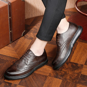 Brock Carved British Business Casual Shoes