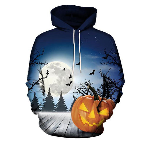 Gradient Lace Up Animal Casual Long Sleeve Men's Hoodies