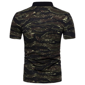 Camouflage Short Sleeve Polo Shirt