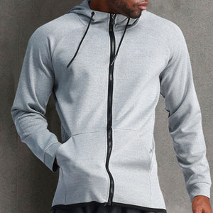 Casual Loose Solid Color Long Sleeve Men's Hoodie