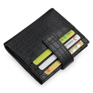 Short Paragraph Croco Magnetic Buckle Men's Wallets