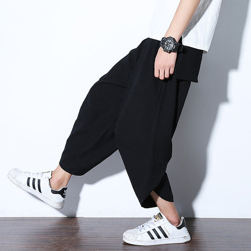 Trend Loose Cotton Hip Pants