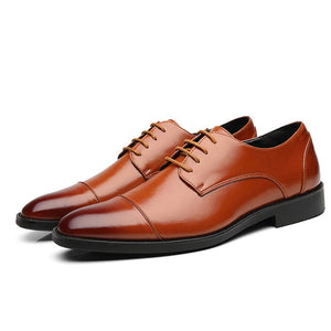 Big Size Leather Patchwork Men's Oxfords
