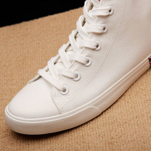 Breathable Plain Canvas Men's Boots