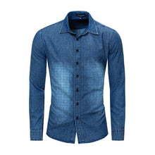 Long-sleeved Cotton Jeans Nostalgia Men's Shirt