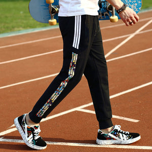 Side Print Casual Sports Pants