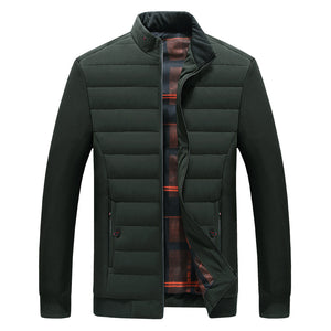 Thickened Solid Color Bread Collar Men's Jacket