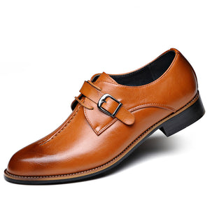 Business Buckle-tipped Retro Men's Dress Shoes