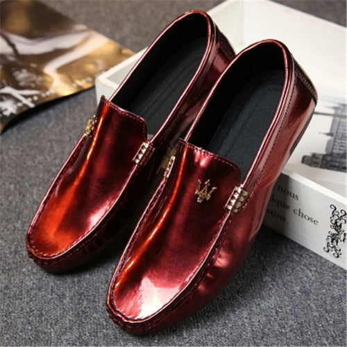 Sequins Metal Slip On Men's Casual Shoes