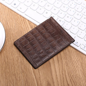 Genuine Leather Croco Short Paragraph Men's Wallets