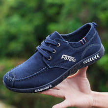 Washed Denim Lace-up Canvas Shoes