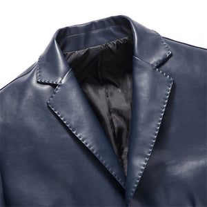 Waterproof Work Brief Men's Leather Coat