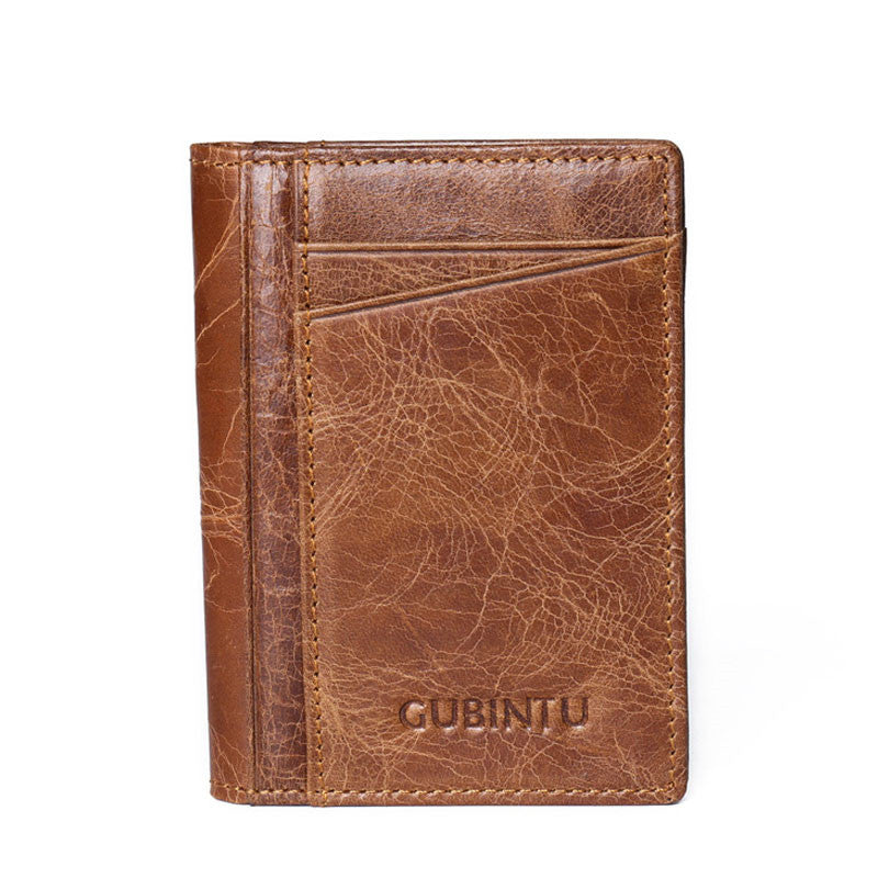 Antimagnetic Anti Theft Solid Colo Men's Wallets