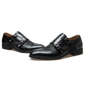 Buckle Print Wear Resistant Men's Oxfords
