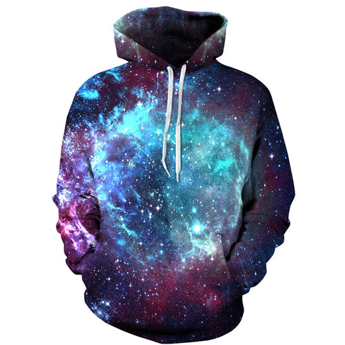 Starry Sky Print Hoodies