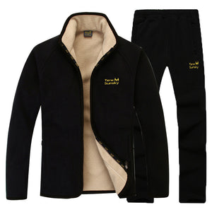 Warm With Velvet Thicken Men's Sports Suit