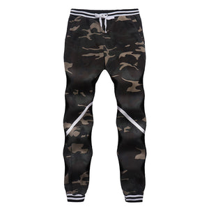 Camouflage Cotton Casual Sporty Long Pants Men's Active Pants