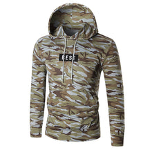 Alphabetical Stitching Camouflage Men's Hoodie