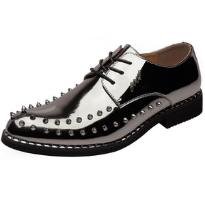Microfiber Leather Casual Rivet Shoes