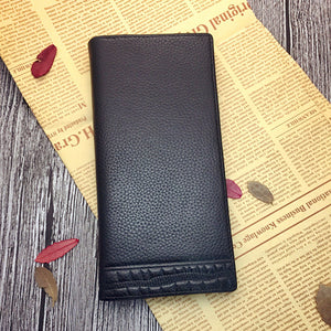 Long Section Leisure Simple Men's Wallets