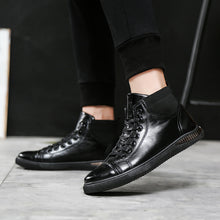 Brief Warm Patent Leather Anti Slip Men's Loafers