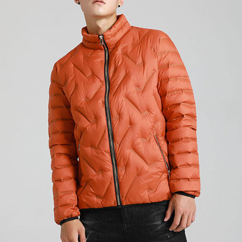 Outdoor Thicker Short Collar Men's Puffer Jacket