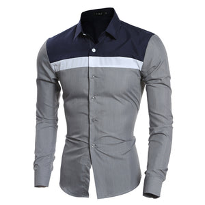 Colorblock Casual Shirt
