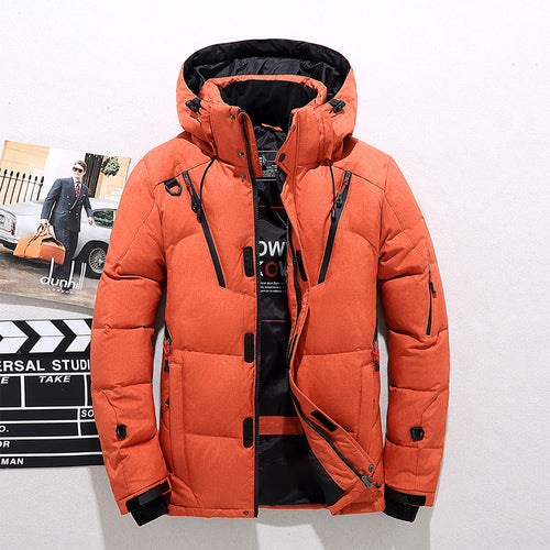 Thickened Plus Size Sporty Slim Stand Collar Men's Down Coat