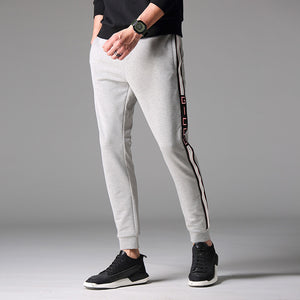 Elastic Belt Side Print Casual Pants