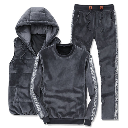 Warm Geometric Smooth Vintage Men's Sports Suit