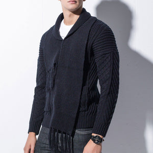 Acrylic Thickened Jacquard Loose Warm Men's Sweater
