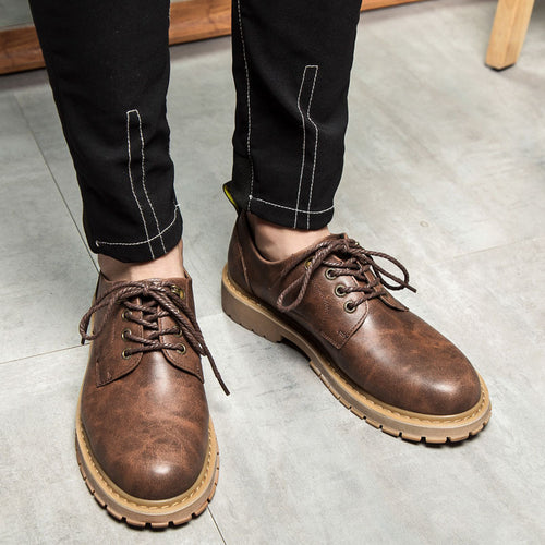 Heavy Sole Tooling Big Head Small Men'a Casual Shoes