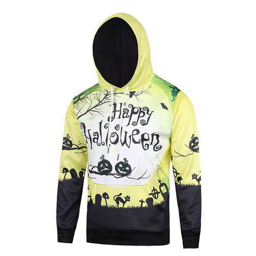 Hooded Printed Letter Polyester Loose Men's Hoodies