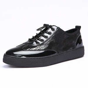 Breathable Serpentine Shiny Leather shoes