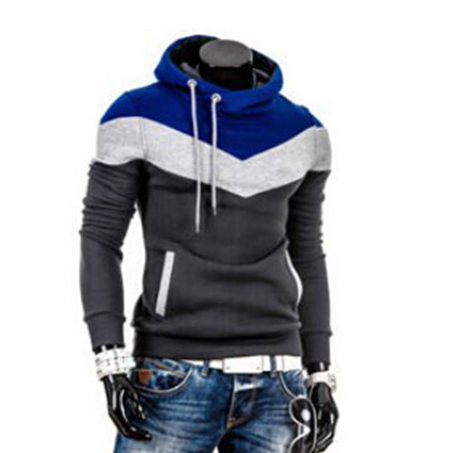 Color Block Pullover Cotton Blends Men's Hoodies
