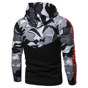 Camouflage Stitching Self-cultivation Hat Men's Coat