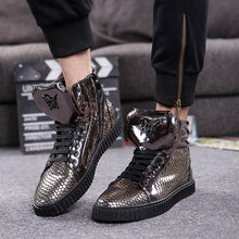 Add Gollon Martin Fish Scale Pattern Men's Boots