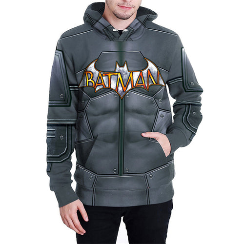 Bat Printing Comfortable Polyester Men's Hoodie