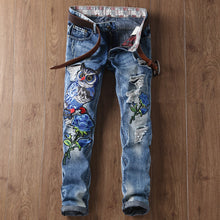 Owl Embroidery Straight Jeans