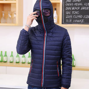 Solid Color Warm Brief Waterproof Men's Down Coat