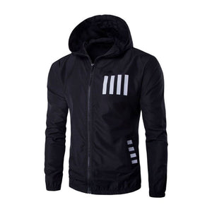 Casual Hooded Letter Plain Color Block Men's Hoodies