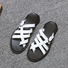 Real Leather Open-toed Sandal